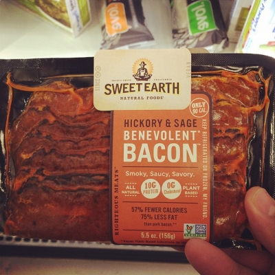 No. Just no. If you want the savory and delicious taste of bacon then eat meat.