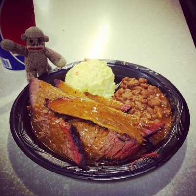Oh travel luck! IAH has a Salt Lick in the B terminal. I can haz brisket