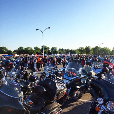 Staging for Rolling Thunder XXVIII