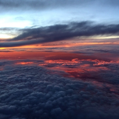 Sunset at 28,000 feet